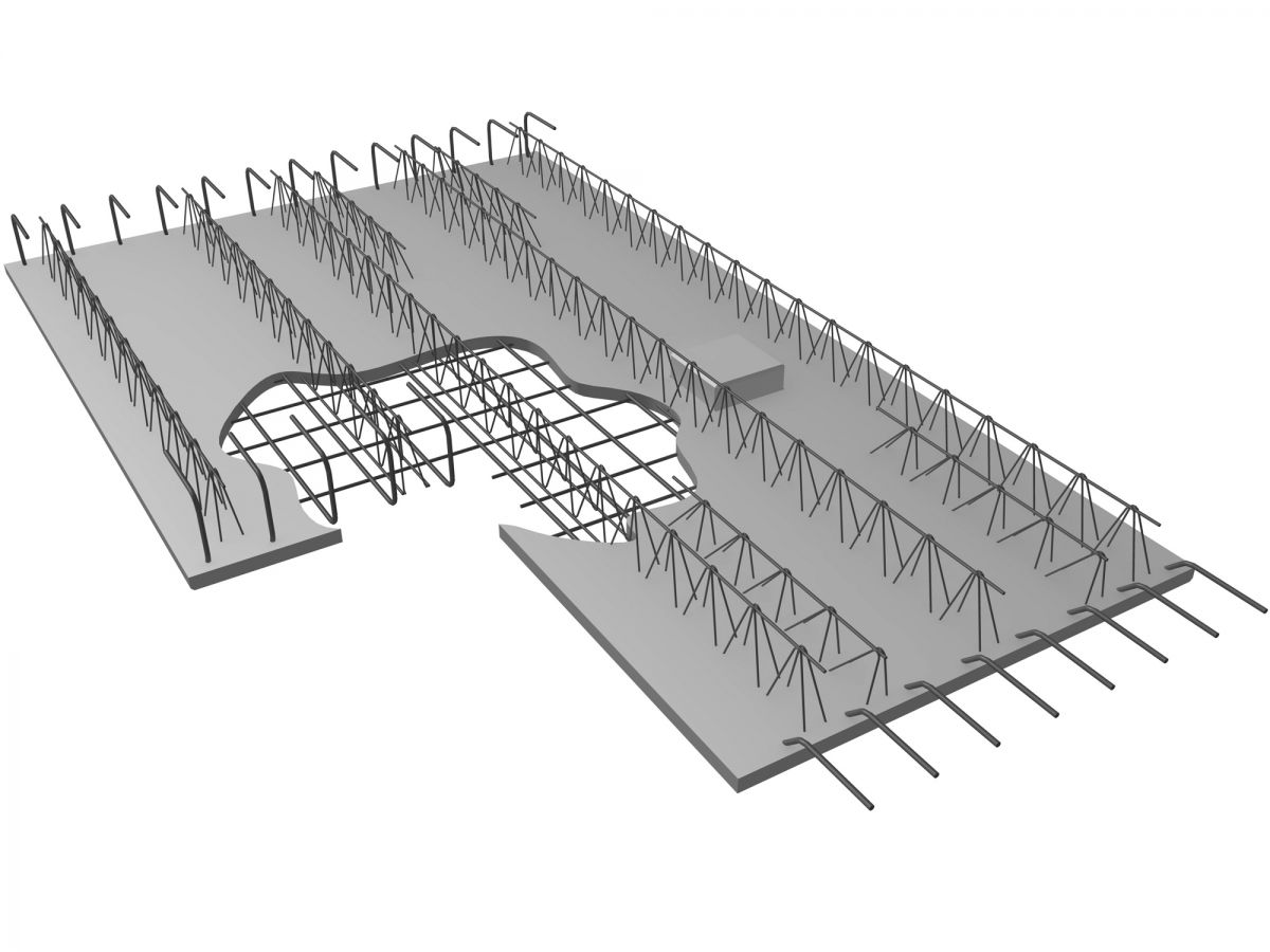 Steel lattice girde steel roof truss for concrete precast
