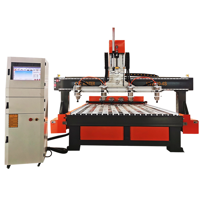 2021 New Type Multi Head Engraving Machine 4 Axis CNC Wood Router With 4 Spindle