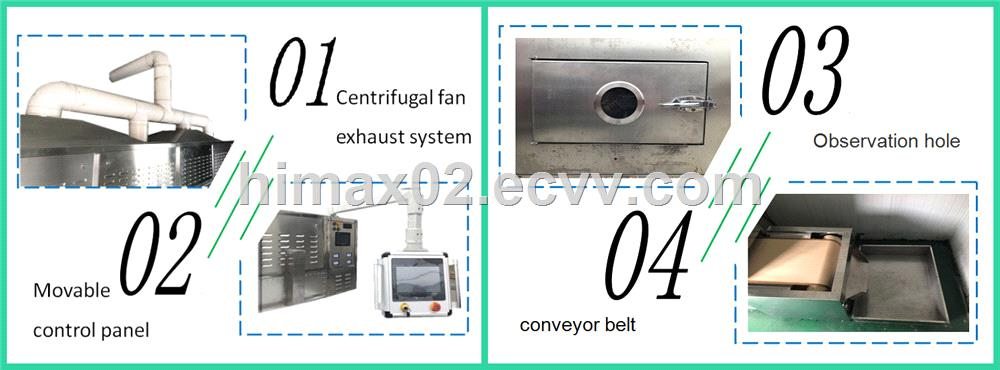 Green tea leaf microwave dryer oven automatic microwave coffee drying equipment cocoa bean roasting machine