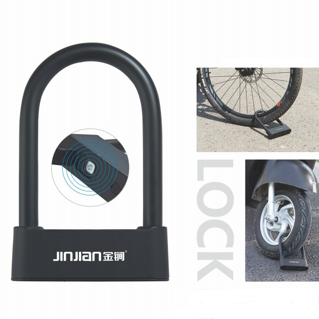 Fingerprint Bike Lock Smart Biometric App Lock with USB Rechargeable IP67 Waterproof for Warehouse Bike Motobike