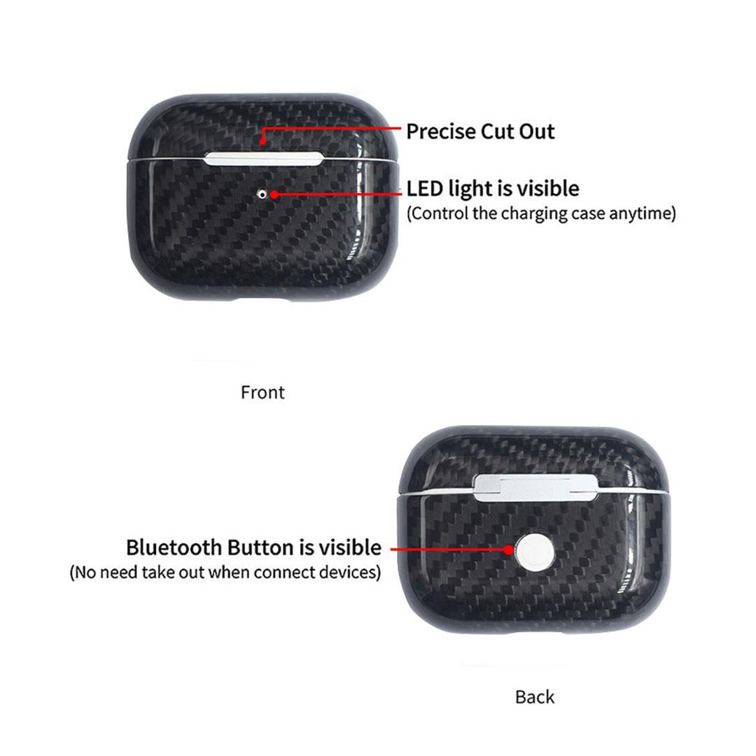 Carbon Fiber Airpods Pro Case Earphone Box