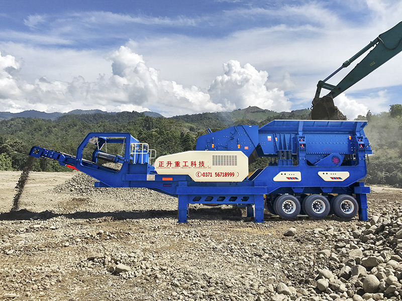 Tire Mobile Series Impact Crusher Mobile Station