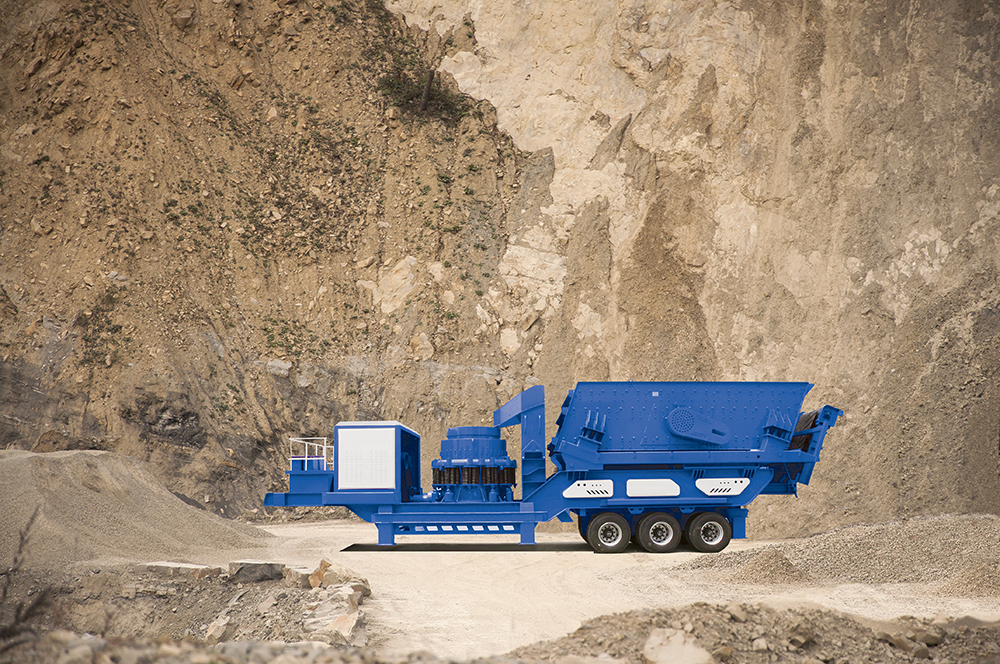 Tire Mobile Series Cone Mobile Crushing Station