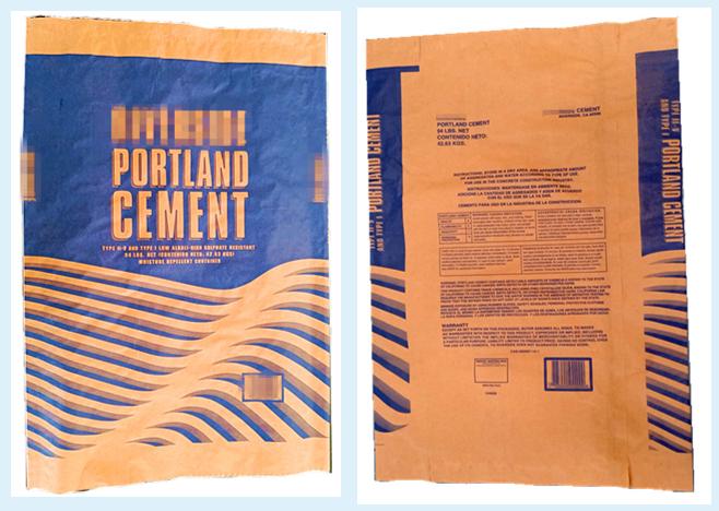 Customized 25kg 50kg multiwall brown kraft paper cement bag