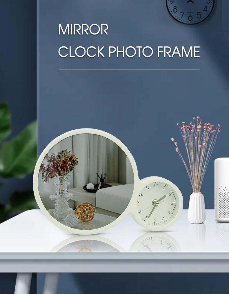 Makeup Mirror Magic Photo Frame with Clock