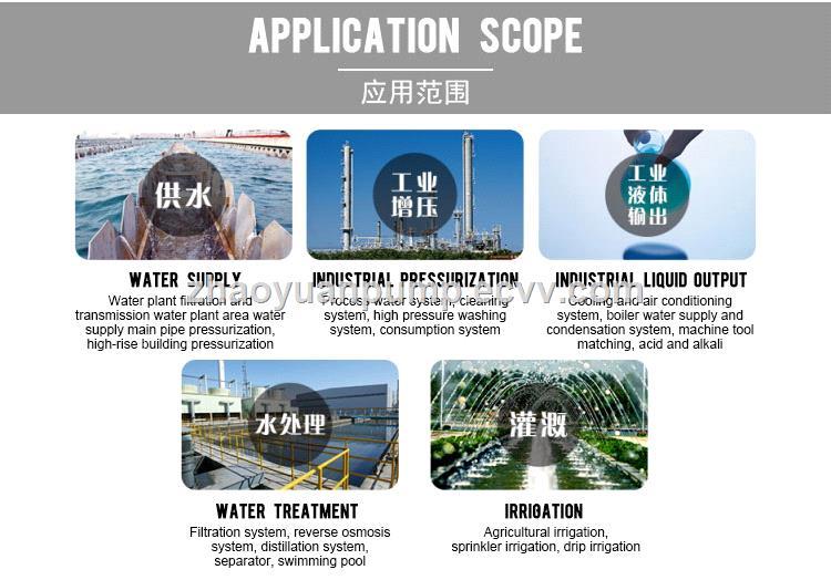 zhaoyuan 220V380V high lift head vertical pipeline jet vertical inline centrifugal Stainless steel water pump