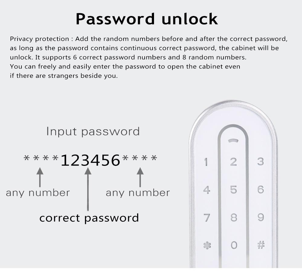 KERONG Smart Keyless Electronic Password Cabinet Latch Digital Combination Combi Cam Lock for Files