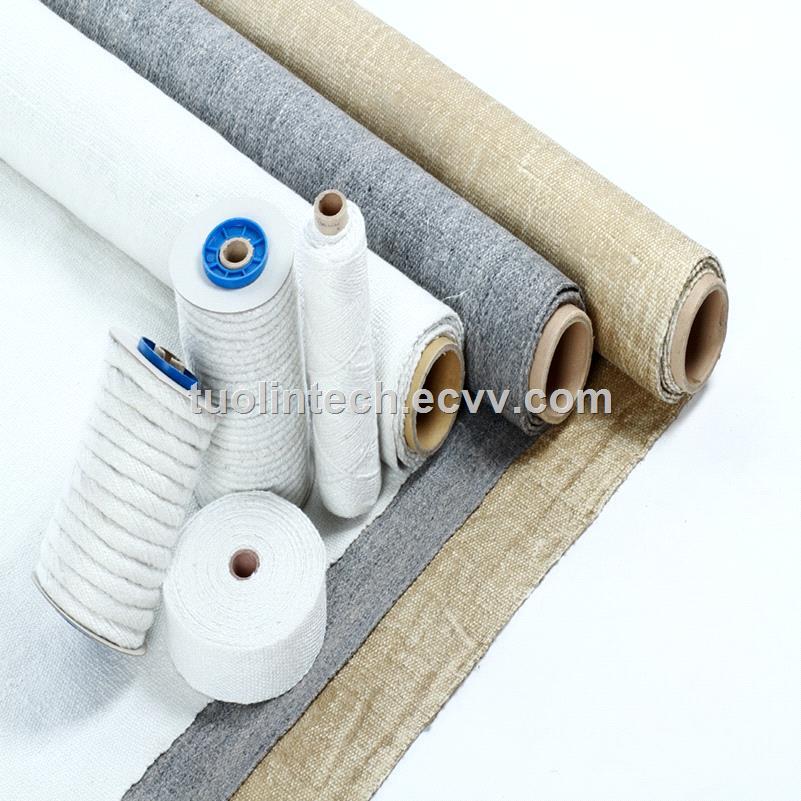 China ceramic fiber cloth ceramic fiber fabric