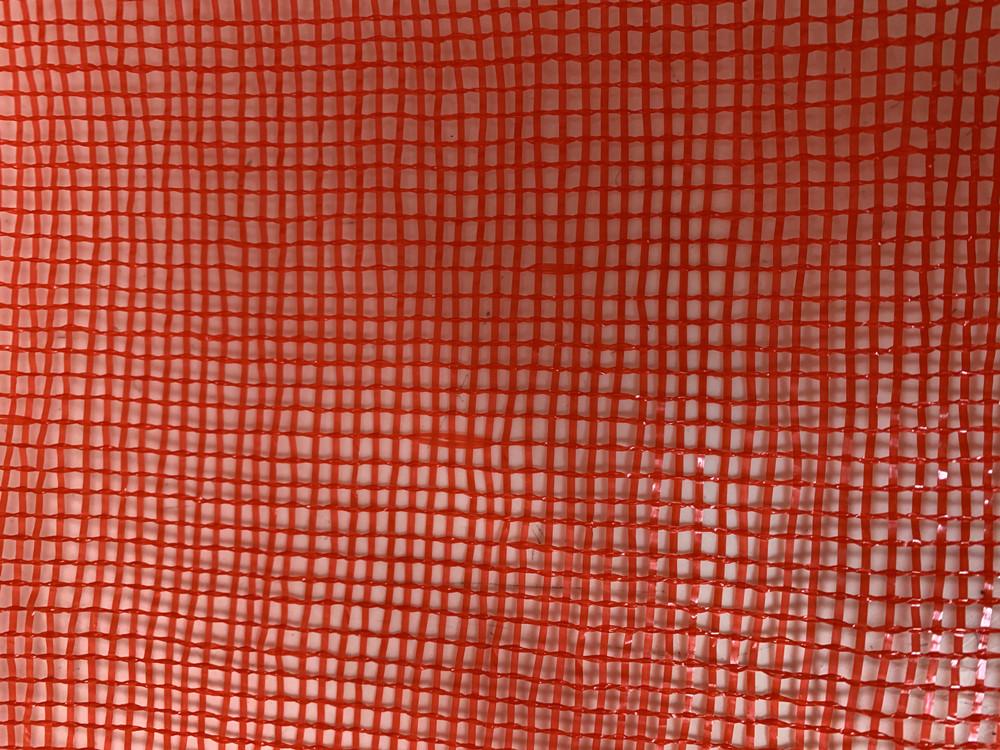 china factory orange mesh bag with label