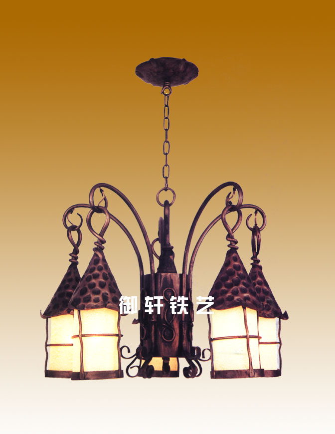 Iron skill ceiling lamp