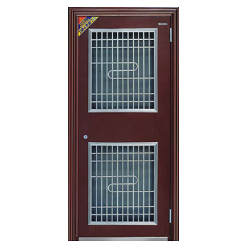 Exterior Security Steel Double-Layer Door