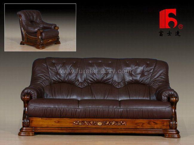 Wooden Base Leather Sofa Okaycreations Net