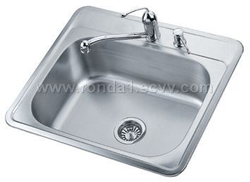 Charmant Drop In Single Bowl Stainless Steel Sink
