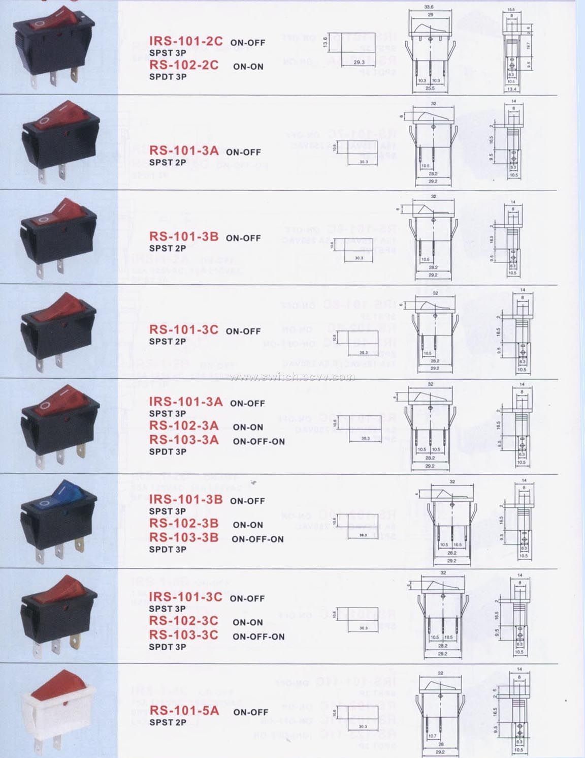 Single-pole (Illuminated) Rocker Switch-3 purchasing, souring agent ...