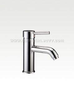 Single Lever Glass Basin Mixer-Brass Chrome Tapware