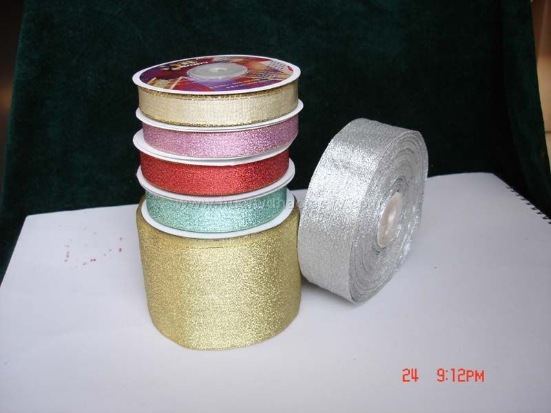 Gold & Silver Satin Ribbon