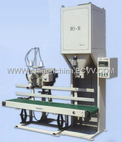 Electric weighing and packing machine