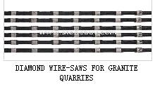 DIAMOND WIRE-SAWS FOR GRANITE QUARRIES