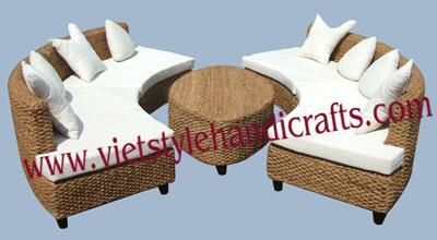 Terrific Water Hyacinth Sofa Sets From Vietnam Manufacturer Ncnpc Chair Design For Home Ncnpcorg