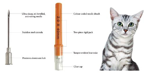 Veterinary Aluminum Hub Needles