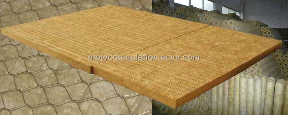 Mowco rockwool mineral wool board blanket pipe for Rockwool insulation board