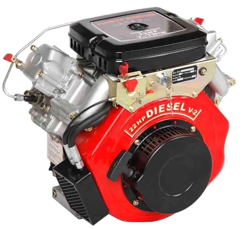 v-twin air-cool diesel engine