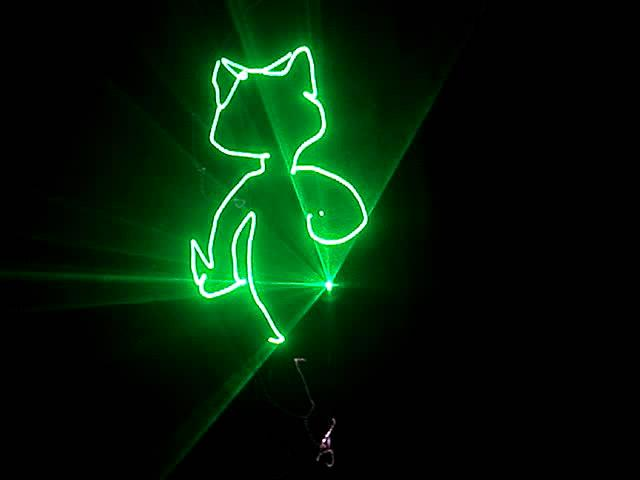 100mw green animation laser light from China Manufacturer