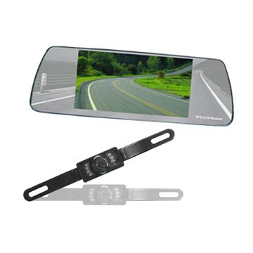 Car Rear view System with 6 inch TFT LCD Mirror Monitor and CMOS/CCD IR Waterproof Camera
