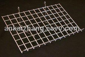 Slanted Wire Grid Shelves