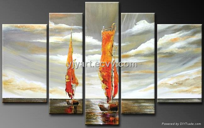 Oil painting                                 Oil painting on canvas---abstract