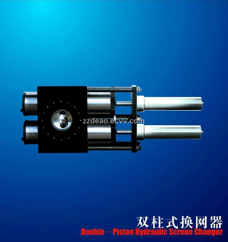 Double-Piston Hydraulic Screen Changer