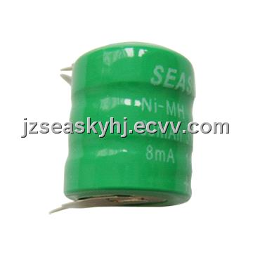 80mAh 3.6V NiMH Rechargeable Button-cell