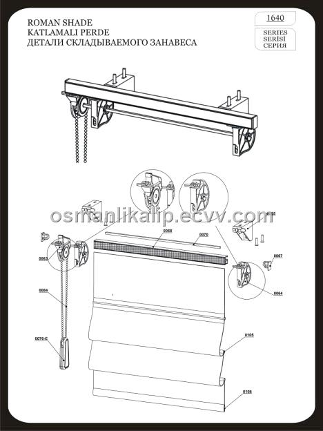 roman shade hardware kit blind 1640 purchasing souring ecvv 4871