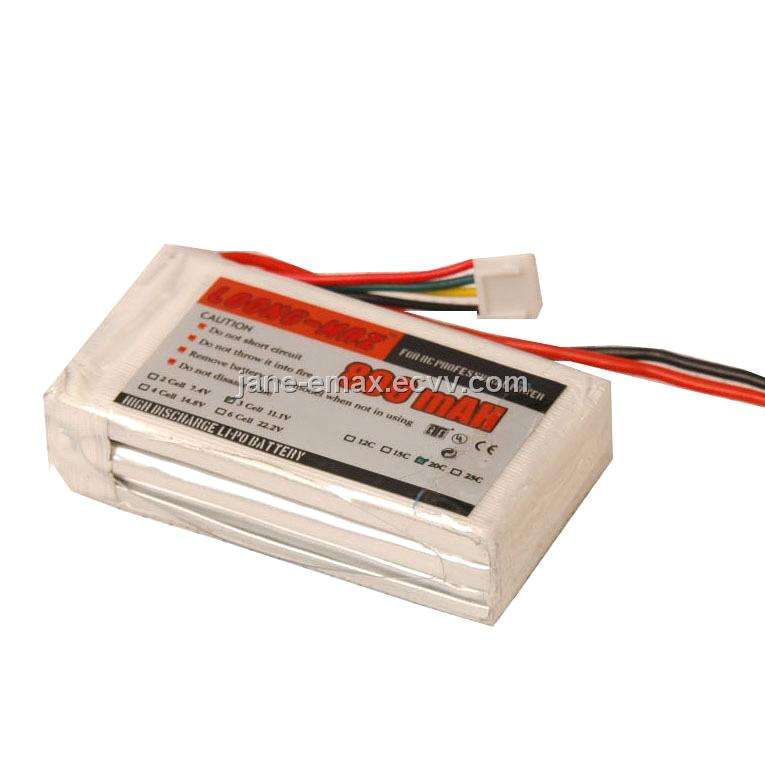Loong-Max Lipo Batteries for RC Planes (LP20-0800-3)