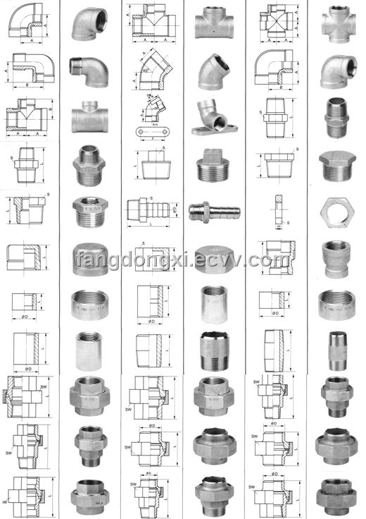 Stainless steel threaded fitting purchasing souring agent