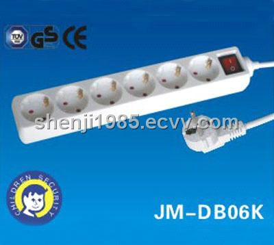 Socket Outlet European Standards CE GS  Approval power strip