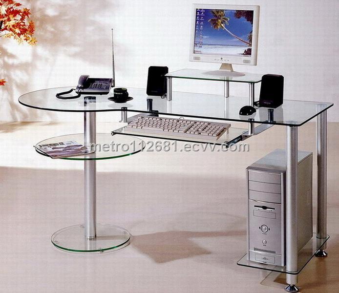 Popular Glass Computer Desk Decor