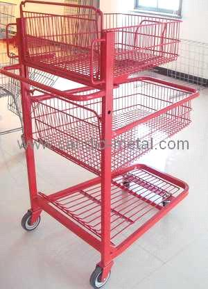 3 layer storage display cart