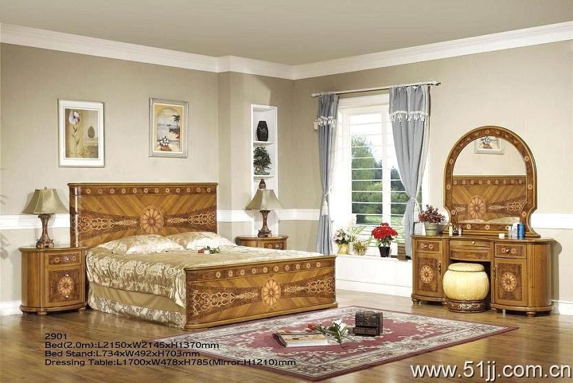Lovely Spanish Style Bedroom Furniture (DZ 2901)