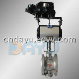 Pneumatic Line with V Ball Valve