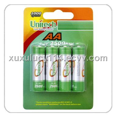 Rechargeable Ni-MH Battery (H-AA2500)