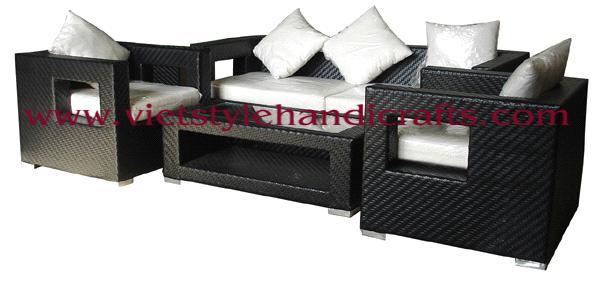 Plastic Rattan Sofa Set From Vietnam Manufacturer