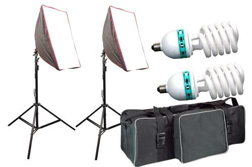 Continuous Light Kit Soft Box with Light Source Florescent Bulb  sc 1 st  ECVV.com & Continuous Light Kit Soft Box with Light Source Florescent Bulb ...