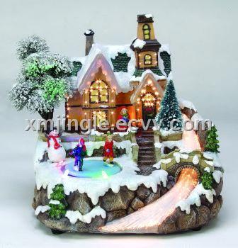led christmas village