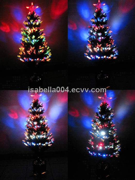 mini led fiber optic christmas trees