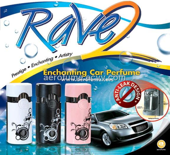 Rave 2 Air Freshener - Car Perfume with Anti-Leak Design
