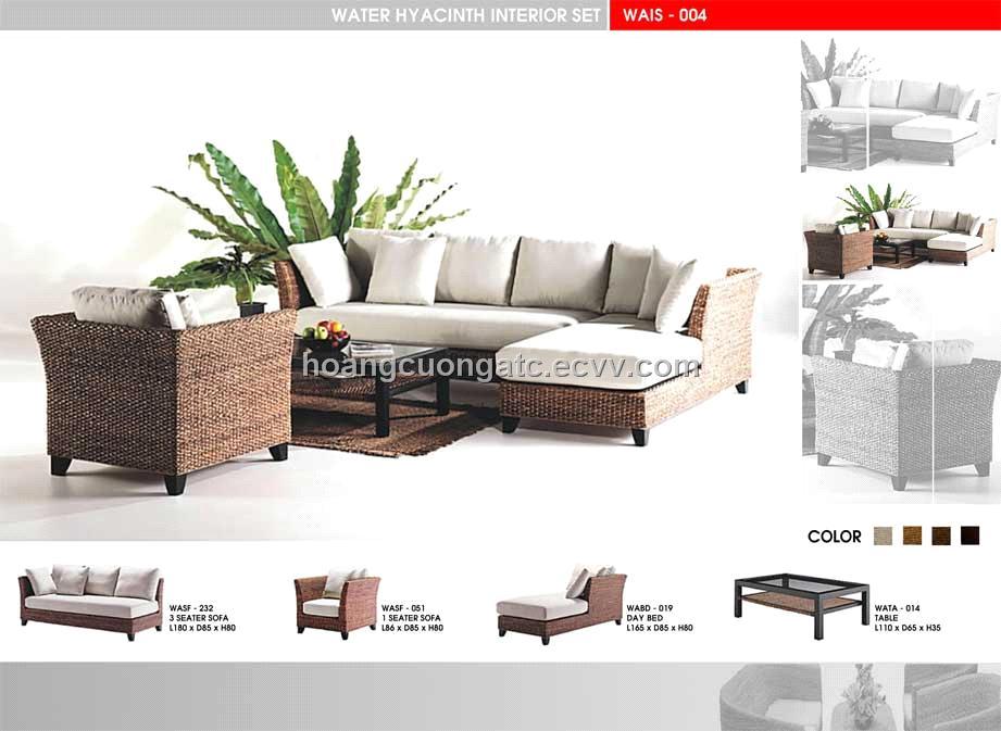 Awe Inspiring Water Hyacinth Sofa Set Wais 004 Ncnpc Chair Design For Home Ncnpcorg