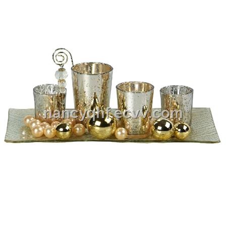 Glass candle set candle holder candle plate  sc 1 st  ECVV.com & Glass candle set candle holder candle plate purchasing souring ...