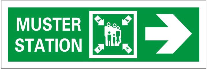 Muster Station Safety Signs From China Manufacturer