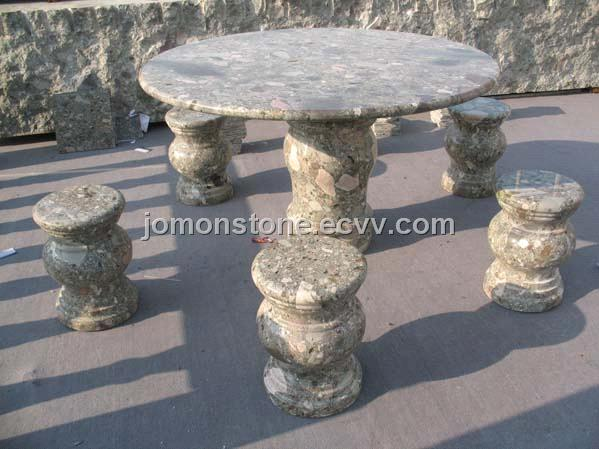 Stone Outdoor Funiture (XMJ-TC08)